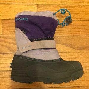Columbia girls waterproof snow boots